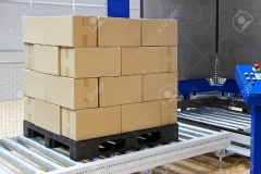 12116670-Cardboard-boxes-at-transport-pallet-packer-machine-Stock-Photo
